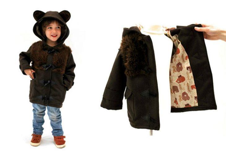 abrigo de oso para niños pequeños