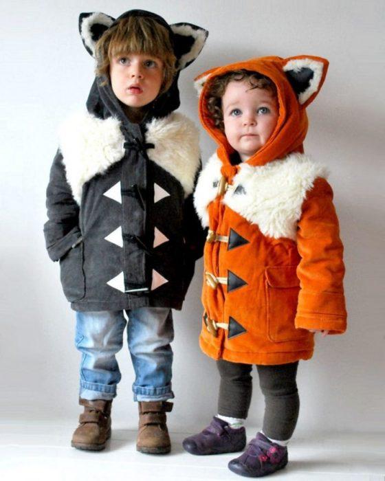 modelos infantiles de abrigos con temas de animales