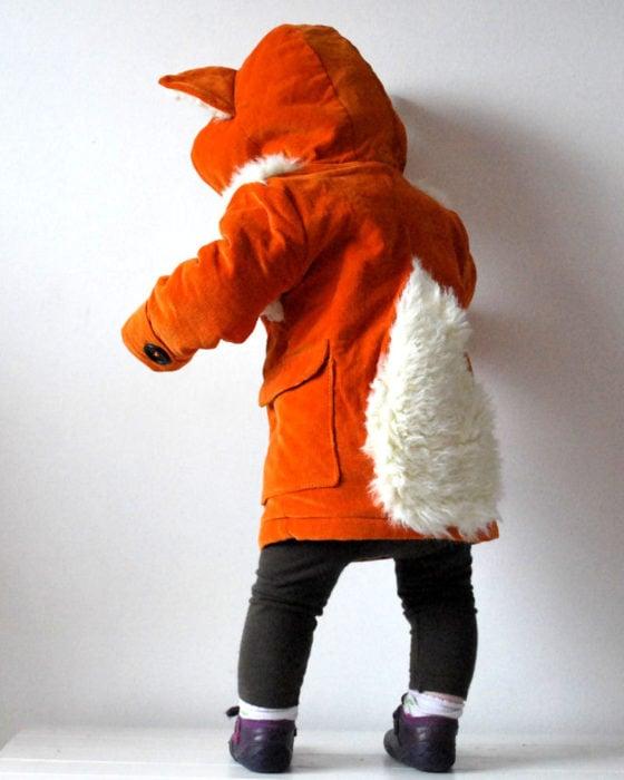 Abrigo para niños de zorro