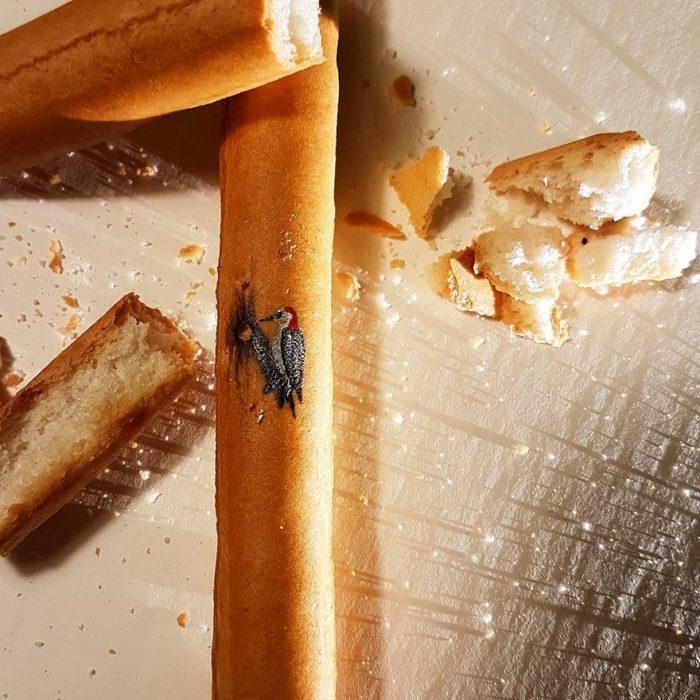 Dibujos en migajas de pan