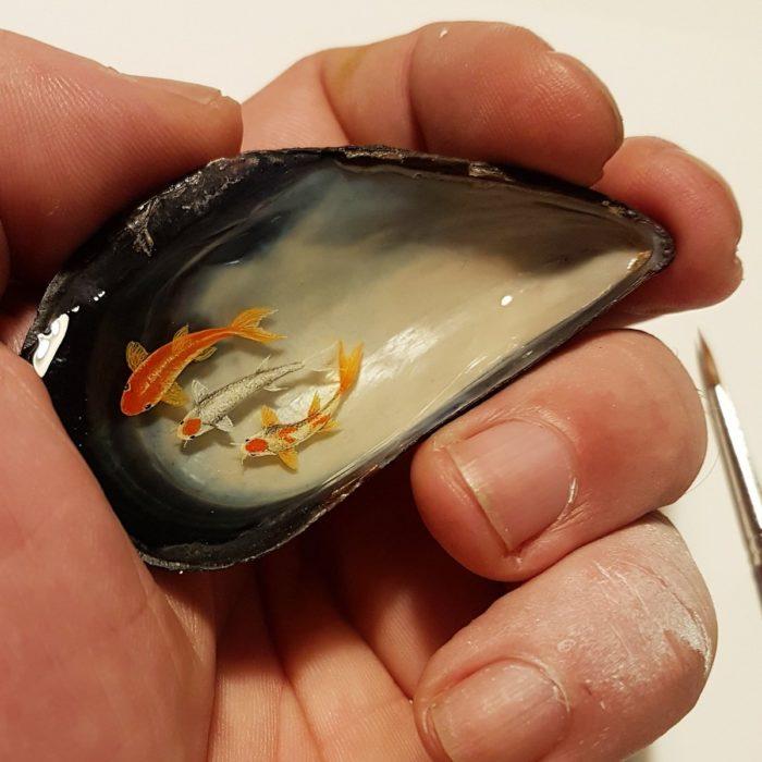 Pintura en objetos pequeños