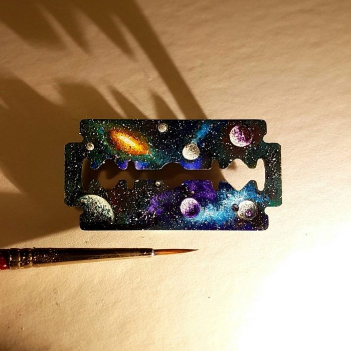 Pintura en objetos muy pequeños