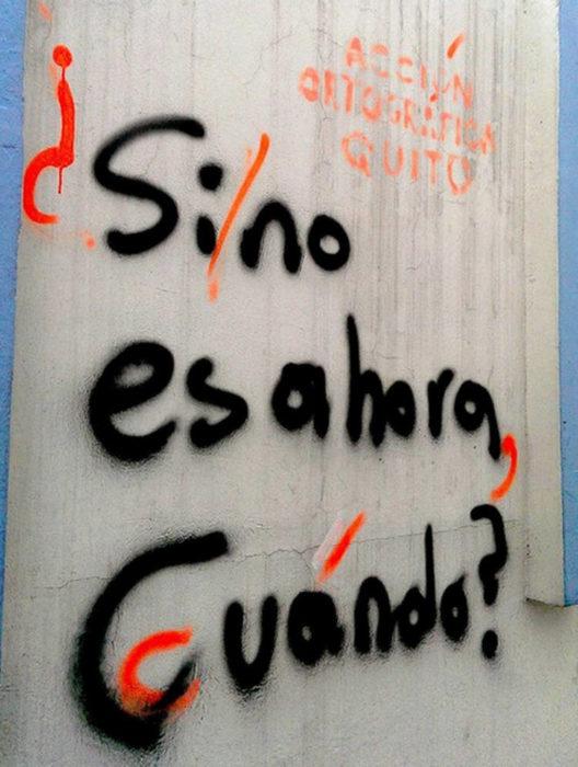 Acción Ortográfica - Si no es ahora, cuándo