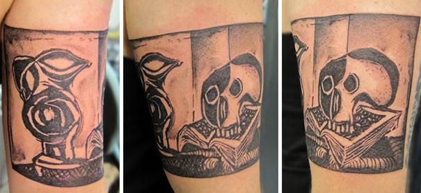 Tatuaje inspirado en Picasso - Pintura calavera
