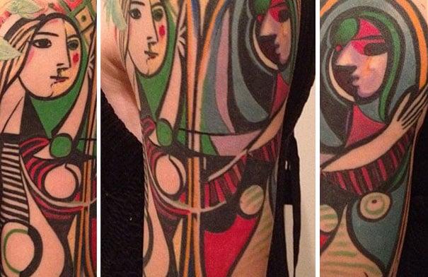 Tatuaje inspirado en Picasso - Mural a color