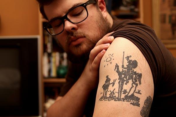 Tatuaje inspirado en Picasso - Quijote