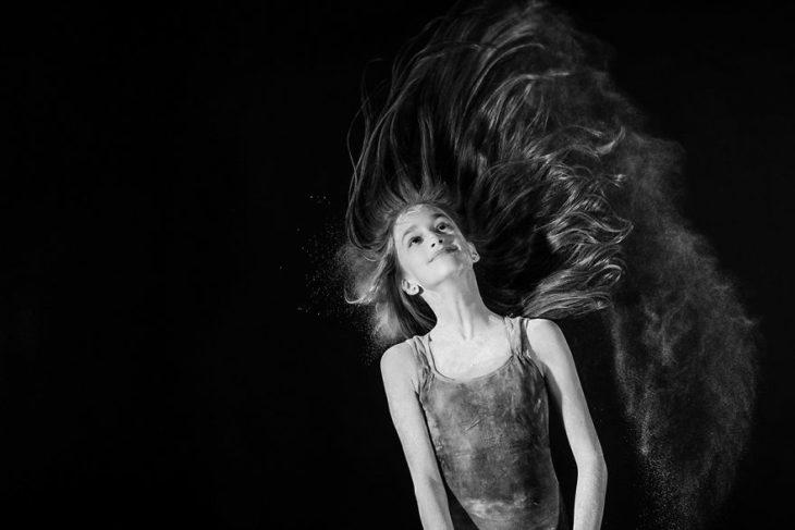 Sesión fotos bailarina cabello al aire