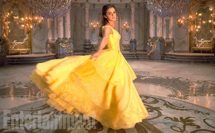 Bella y Bestia 2017 - Emma Watson vestido amarillo