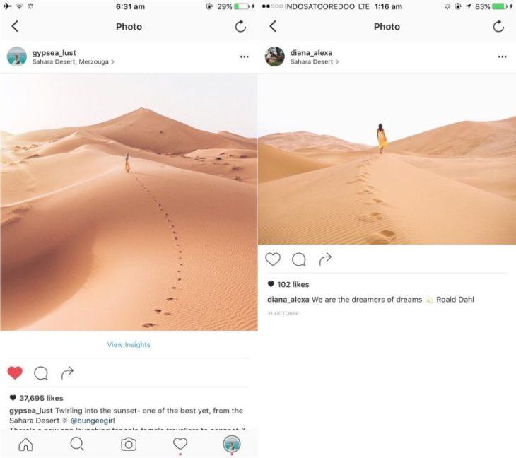 Blogueros instagram copia - Foto en desierto