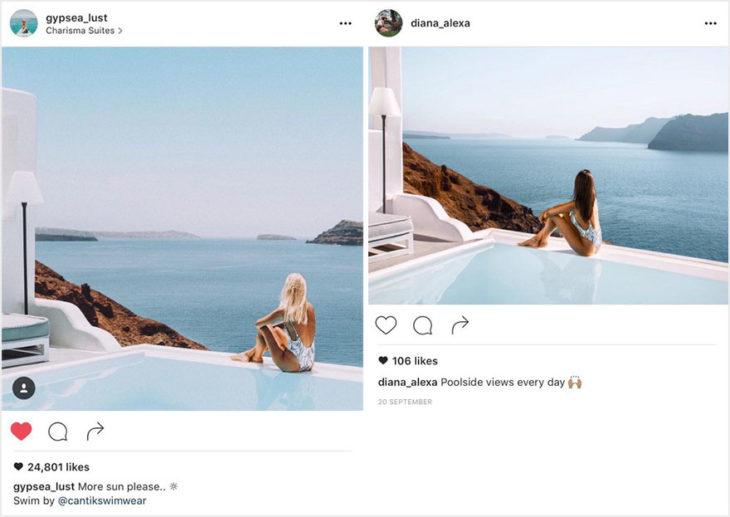 Blogueros instagram copia - Foto océano en Santorini