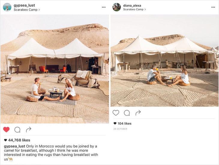 Blogueros instagram copia - Desayuno con camello y sin camello