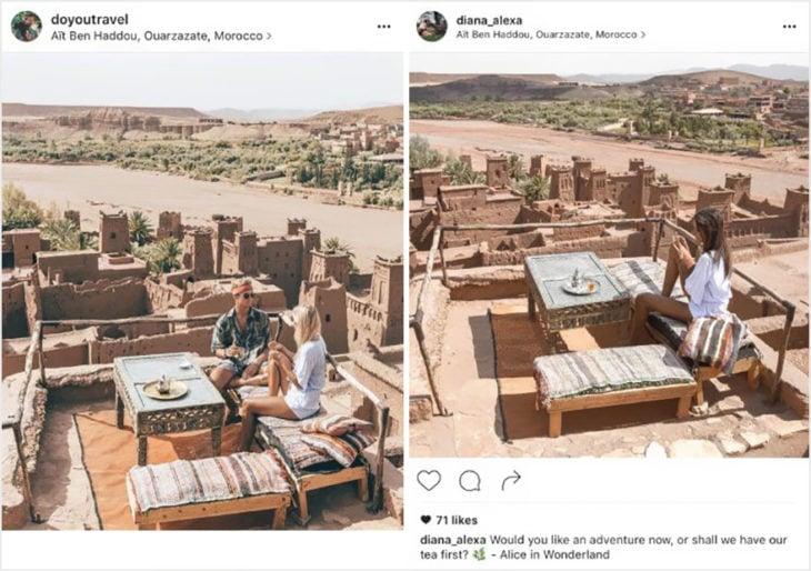 Blogueros instagram copia - Tomando té en Morocco