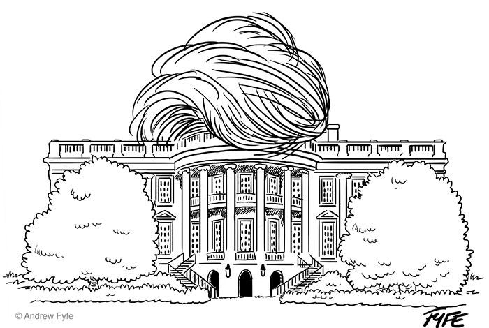 La casa blanca de Donald Trump