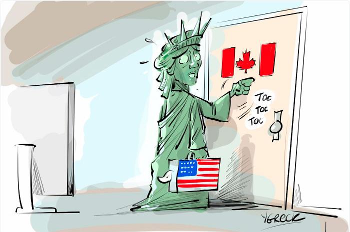 la estatua de la libertad se muda a Canadá