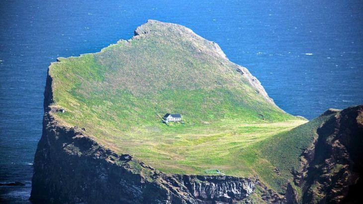 Casa en un acantilado