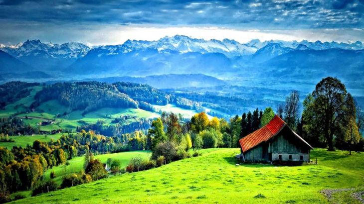 Casa con un paisaje impresionante