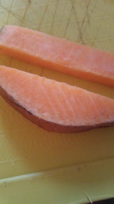 salmón de camote