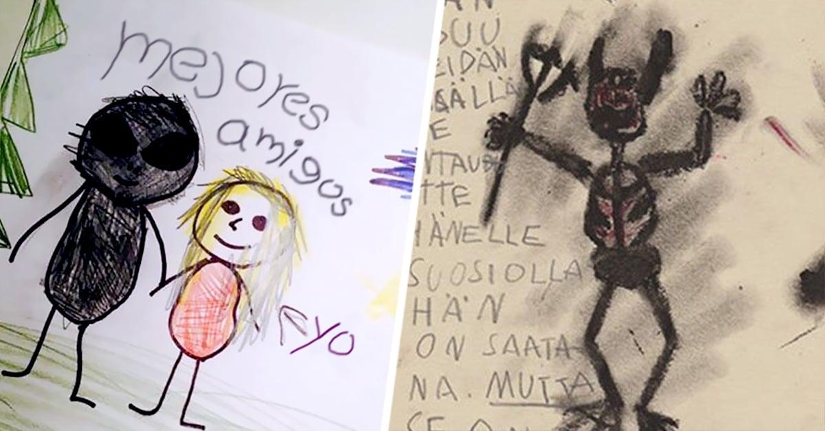 Dibujos Hechos Por Ninos Que Parecen De Peliculas De Miedo