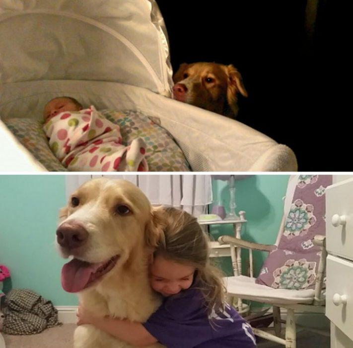 Niña pequeña junto a su mascota