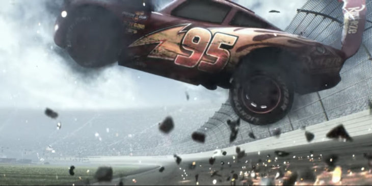 Cars 3 trailer McQueen choque