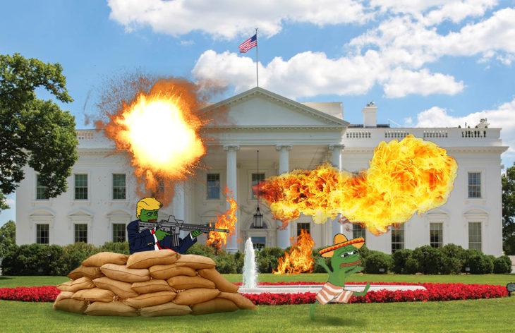 Casa Blanca Photoshop - guerra