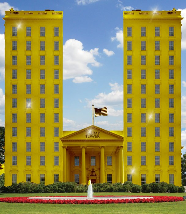 Casa Blanca Photoshop - Dos torres de oro