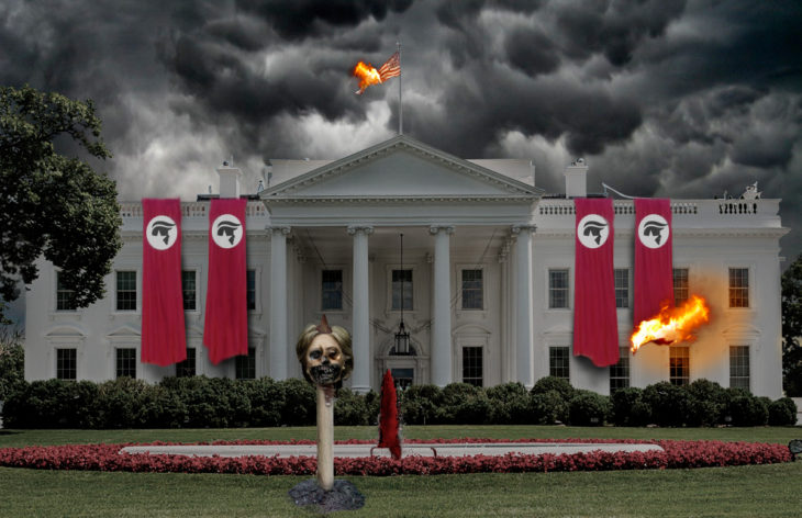 Casa Blanca Photoshop - apocalipsis Donald