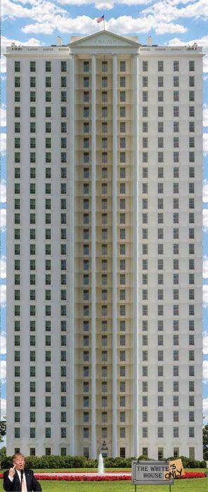 Casa Blanca Photoshop - Un edificio enorme