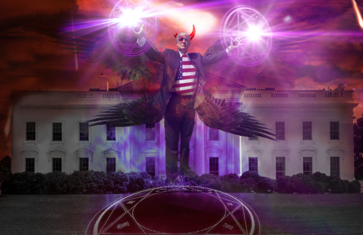 Casa Blanca Photoshop - Donald Trump terror