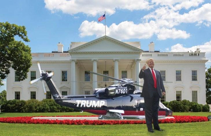 Casa Blanca Photoshop - Un helicóptero en medio