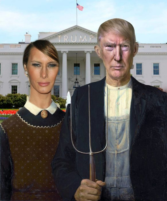 Casa Blanca Photoshop - Cuadro American Gothic