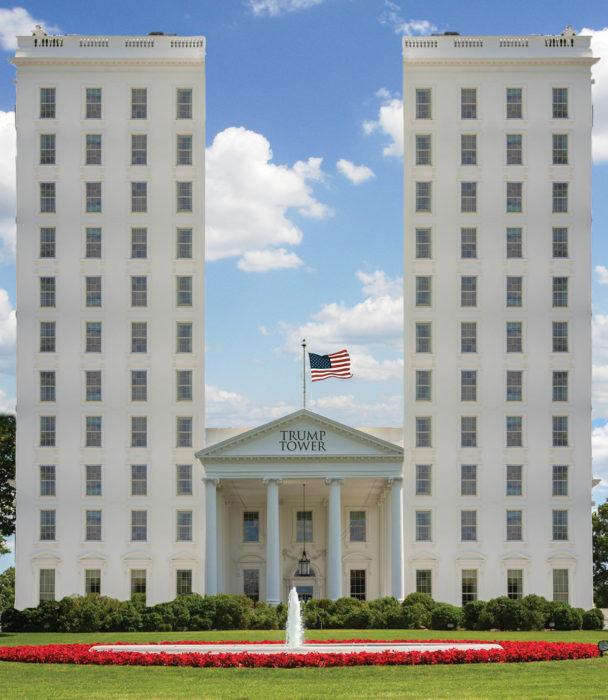 Casa Blanca Photoshop - Dos torres grandes
