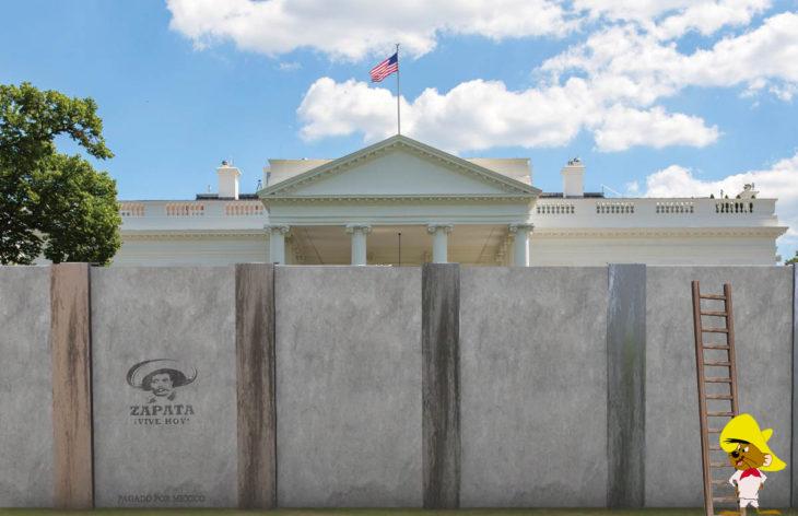 Casa Blanca Photoshop - Muro alrededor