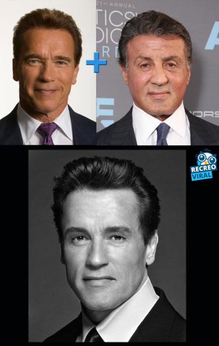 Celebridades fusionadas - Silvester y Arnold