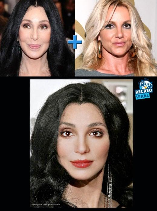 Celebridades fusionadas - Cher y Britney