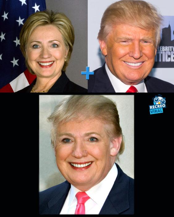 Celebridades fusionadas - Hillary y Donald