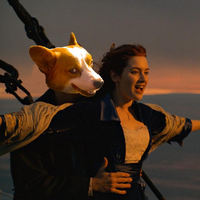 Batalla de Photoshop Corgi - Escena Titanic