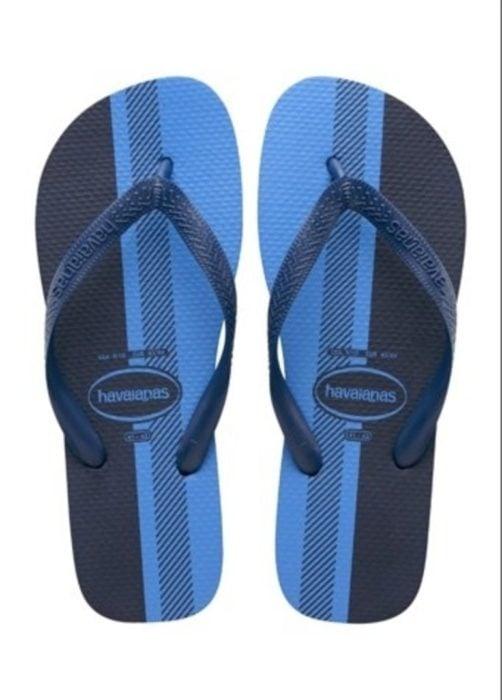 Sandalias azul con negro