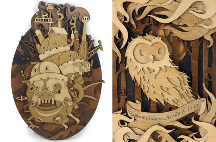 Imágenes sobre madera