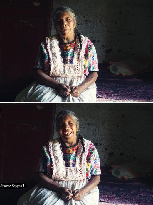 tierna mujer feliz