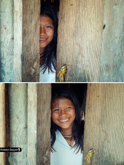 niña que sonríe
