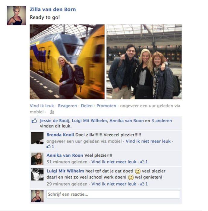 Perfil de facebook de Zilla van den born