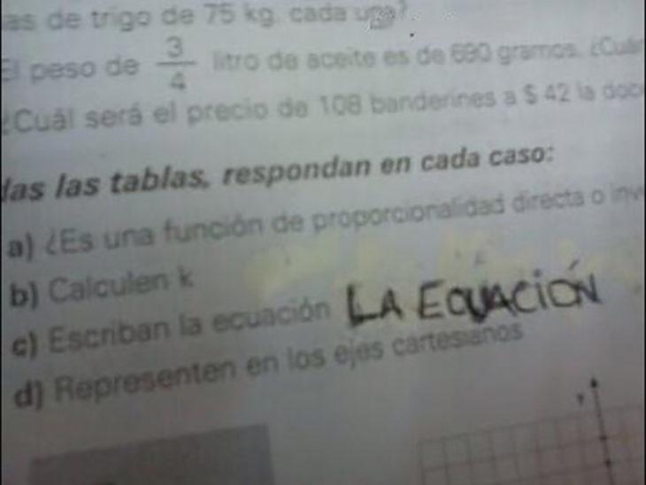Respuestas exámenes - la ecuación