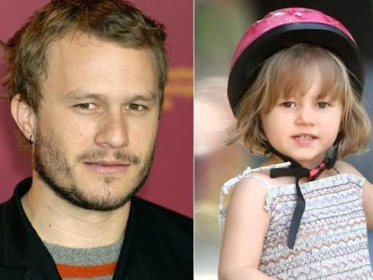 Heath Ledger y su hija Matilda