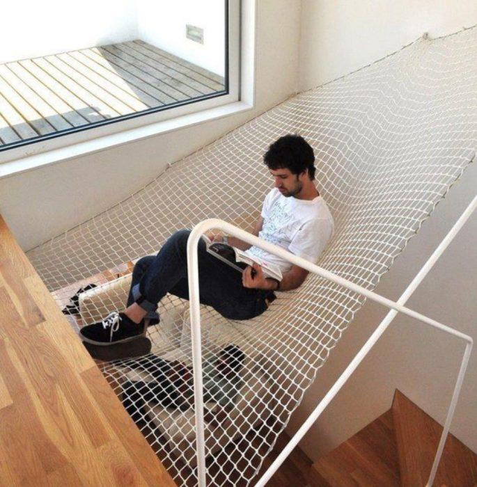 red para escalera