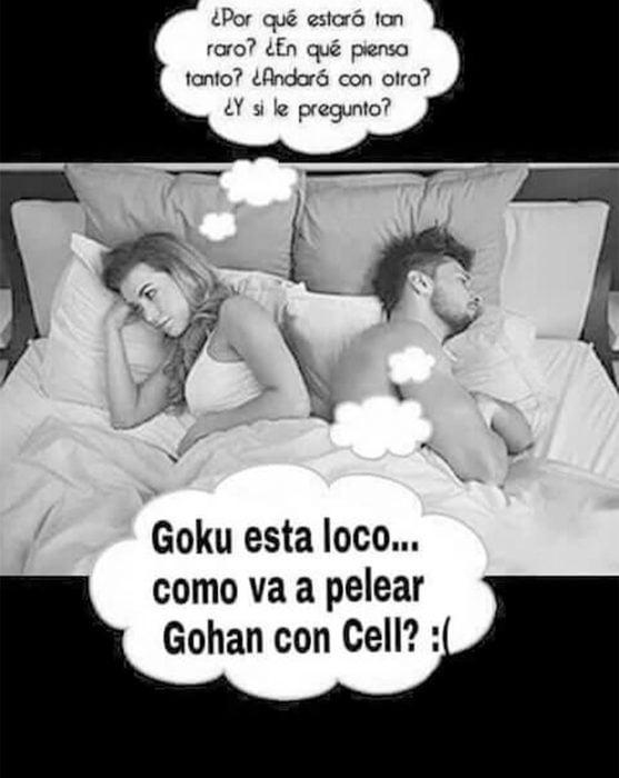 Lo que pasa en la cama de los fans de Gokú