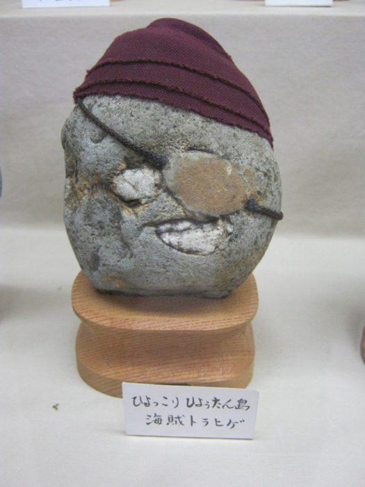 Piedra con un rostro que parece pirata
