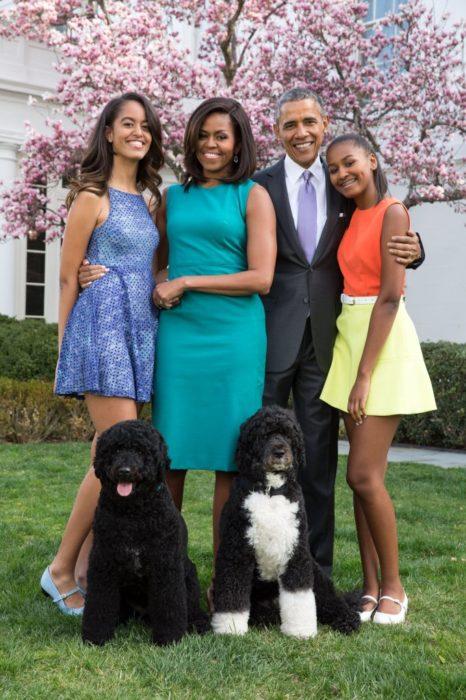 Familia Obama en la casa blanca