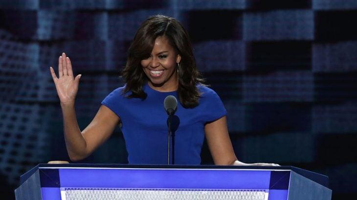 Michelle Obama en el podio