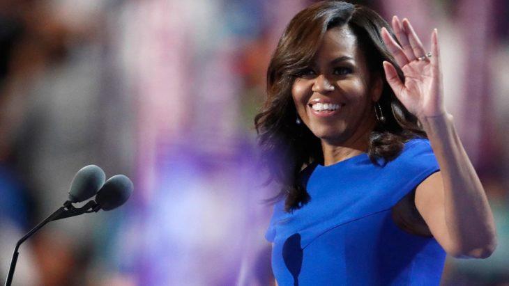 MIchelle obama vestido azul